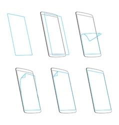 smart phone screen protector vector image vector image