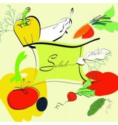 template for salad menu vector image