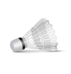 Badminton Shuttlecock Isolated on White vector image