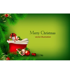 bright green christmas vector image vector image