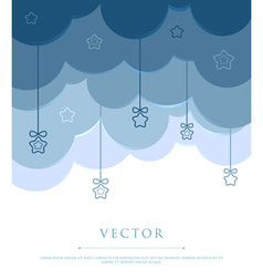 clouds with stars vector image vector image
