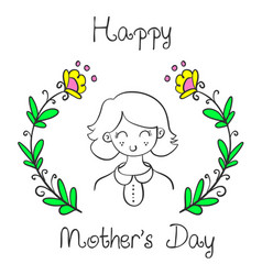 cute style mother day collection vector image