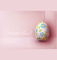 easter greeting card with colorful vector image