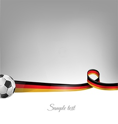 germany background with soccer ball vector image