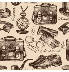 Sketch gentlemen accessories vector image
