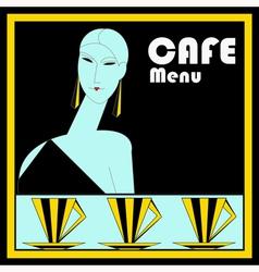 Art Deco Cafe Menu Template vector image