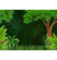 Cartoon of beautiful natural background vector image vector image