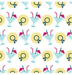 cute summer beach seamless pattern vector image