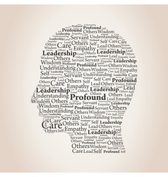 Head of words2 vector image vector image