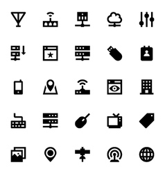 Internet Networking and Communication Icons 2 vector image vector image
