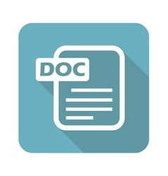 Square DOC file icon vector image
