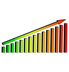 3D Chart diagram arrow lift vector image vector image