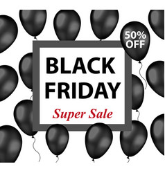 black friday promotional flyer poster invitation vector image vector image