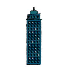 building real estate facade icon vector image