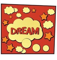 cartoon dream vector image vector image