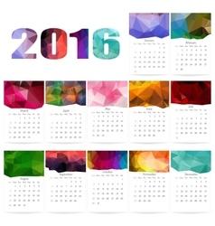 Geometrical calendar of 2016 vector image vector image