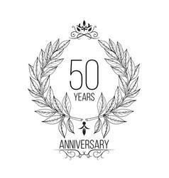 50 year anniversary celebration card vector