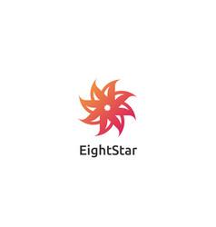 abstract circle star logo design concept vector image vector image
