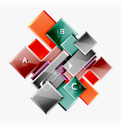 abstract square composition for background banner vector image