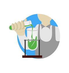 alchemy experiment school cartoon graphic design vector image