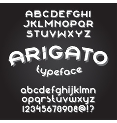 Arigato typeface set vector image