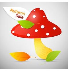 Autumn Sale theme - colorful amanita vector image