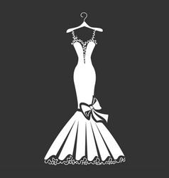 Beautiful dress silhouette vector
