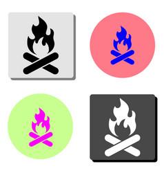 bonfire flat icon vector image