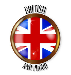 British proud flag button vector