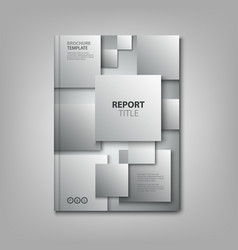 brochures book or flyer with abstract gray vector image