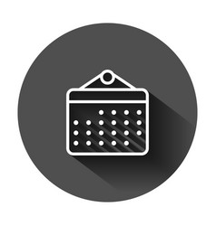 Calendar organizer icon in flat style appointment vector