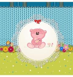 card bear2 vector image