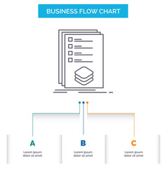 Categories check list listing mark business flow vector