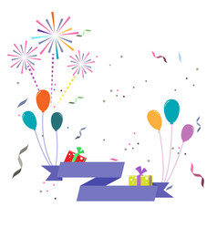 Celebration greeting card with balloons and vector