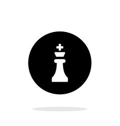 Chess King simple icon on white background vector image