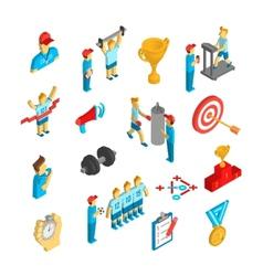 Coaching Sport Icon Isometric vector