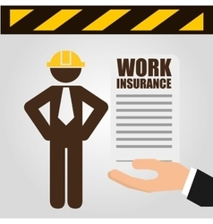 Construction insurance vector