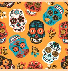 dia de los muertos day dead seamless vector image