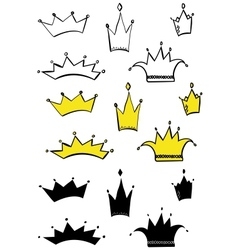 Different crowns vector