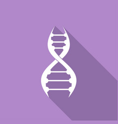 dna icon with a long shadow vector image