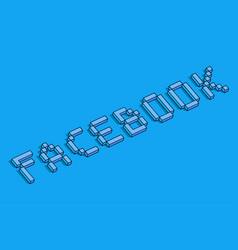 Facebook 3d background vector