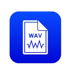 File wav icon digital blue vector