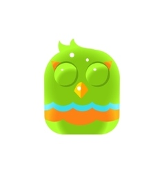 Green Sleeping Chick Square Icon vector