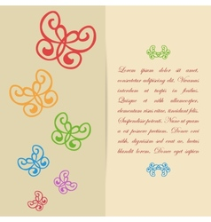Greeting card or invitation design with vector image