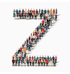 Group people shape letter Z vector