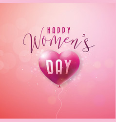 happy womens day greeting card international vector image