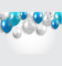 Holiday background with balloons vector