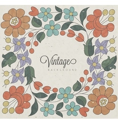 Hungarian traditional flowers decoration vector image vector image