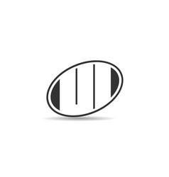 initial letter ul logo template design vector image