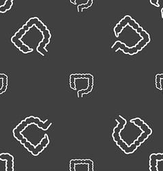 Large intestine sign Seamless pattern on a gray vector